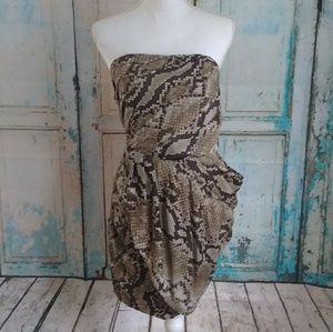 MICHAEL Michael Kors snake print strapless dress